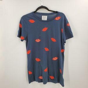 Zoe Karssen Graphic T-Shirt Lips Kiss Kiss Bang